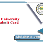 Purnea University Part 1 Admit Card 2020 (Out) | BA, BSC, BCOM Hall Ticket