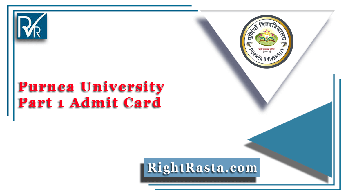 Purnea University Part 1 Admit Card