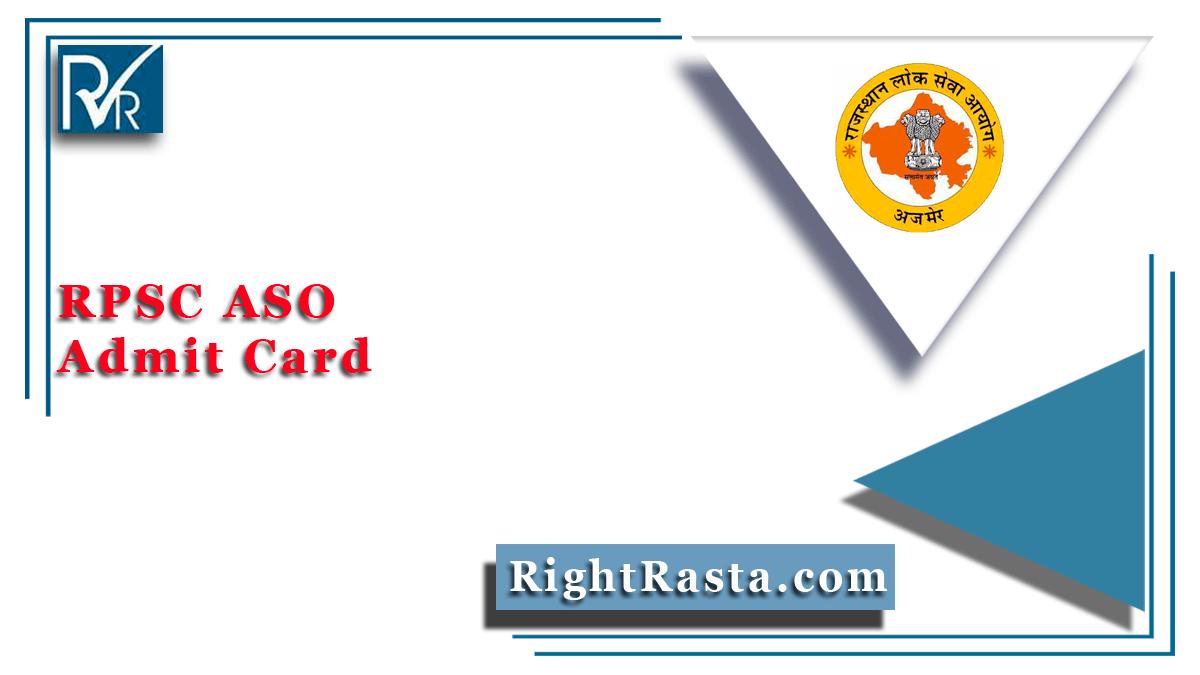 RPSC ASO Admit Card