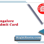 RRB Bangalore NTPC Admit Card 2020 (Out)   Download CEN 01/2019 Hall Ticket