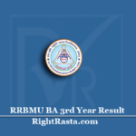 RRBMU BA 3rd Year Result 2020 (Out) | Download Matsya University B.A Final Results