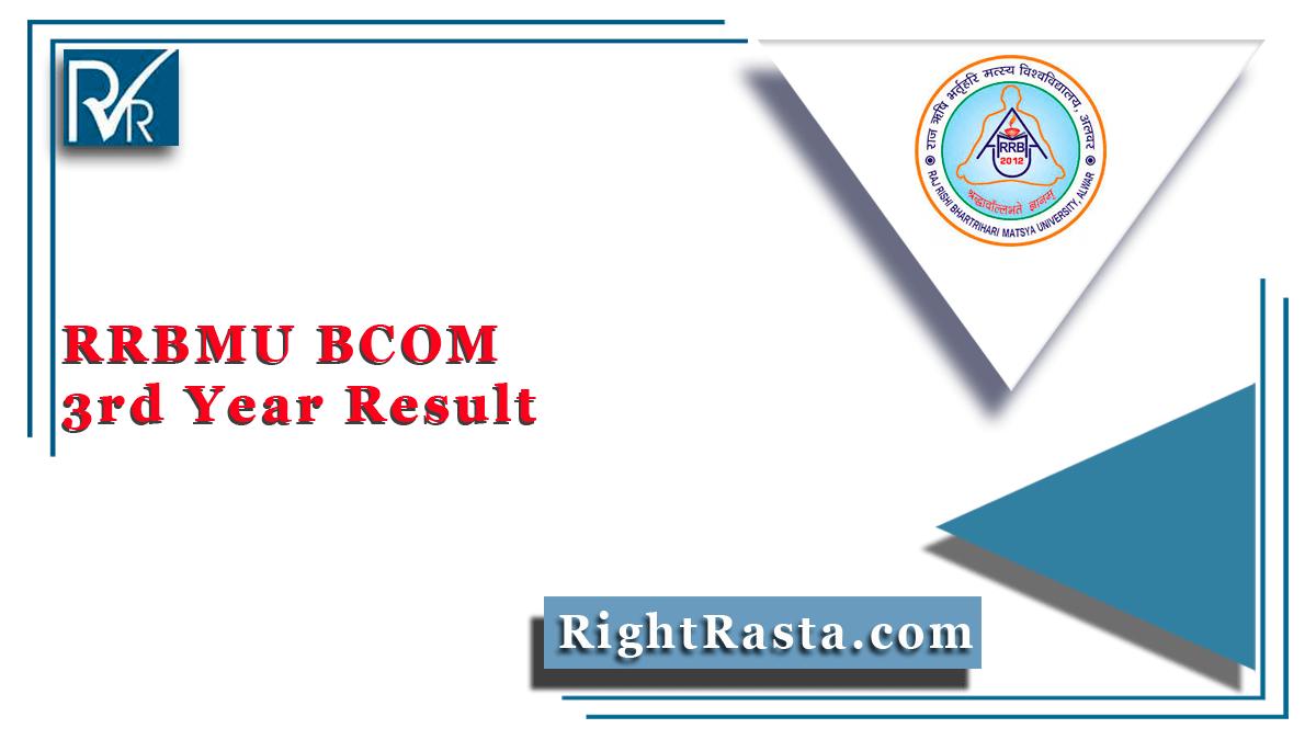 RRBMU BCOM 3rd Year Result
