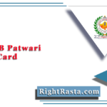 RSMSSB Patwari Admit Card 2020 (Postponed) | Rajasthan Patwar Exam Update