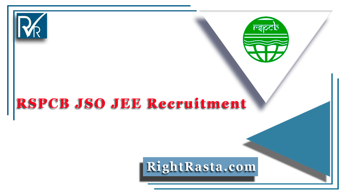 RSPCB JSO JEE Recruitment
