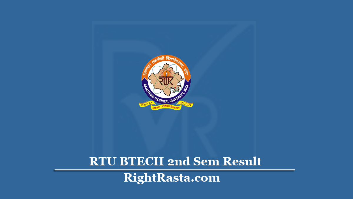 RTU BTECH 2nd Sem Result