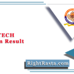 RTU BTECH 4th Sem Result 2020 (Out) @ Esuvidha.info | Download B.TECH Results