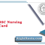RUHS BSC Nursing Admit Card 2021 (Out) | Download Entrance Exam Hall Ticket