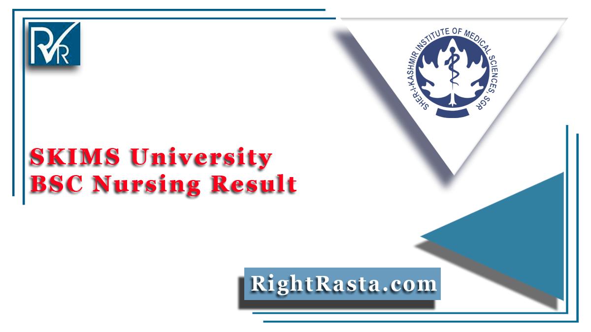 SKIMS University BSC Nursing Result