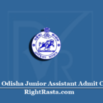 SSB Odisha Junior Assistant Admit Card 2020 (Out) | Download Stenographer Hall Ticket