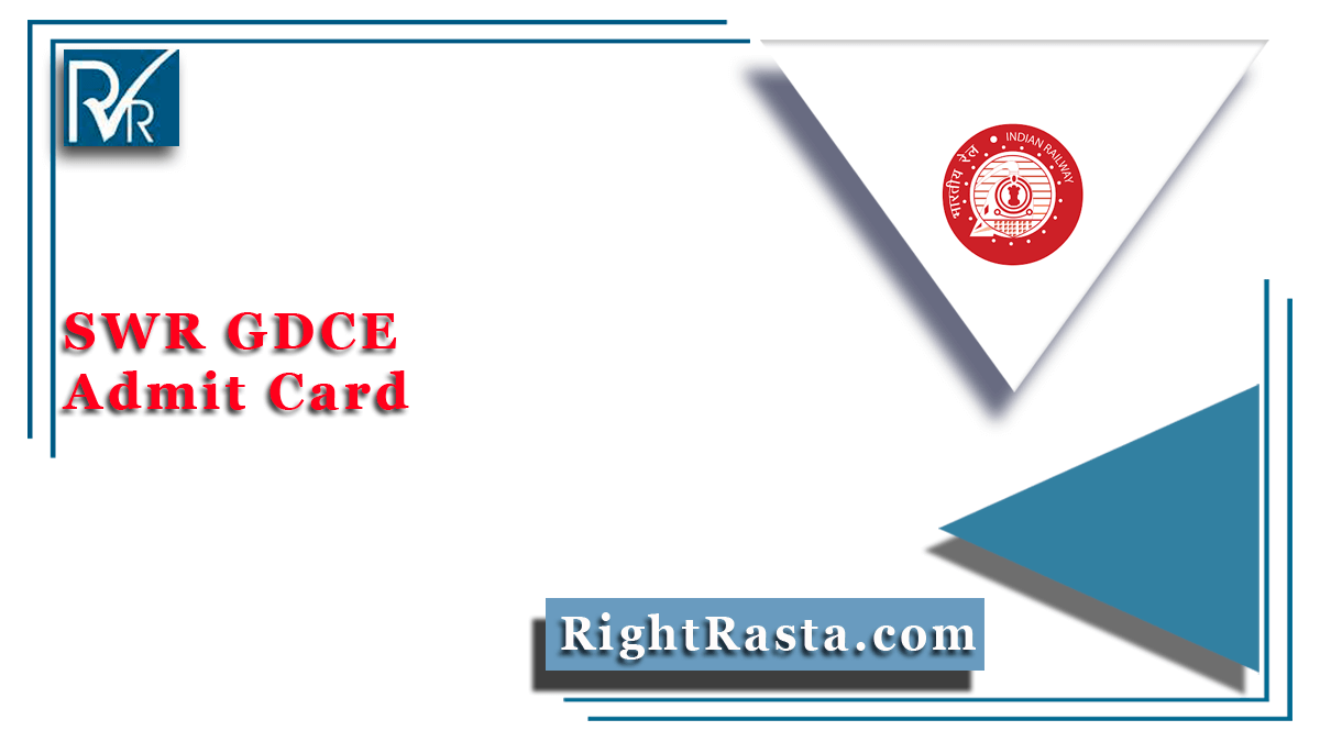 SWR GDCE Admit Card