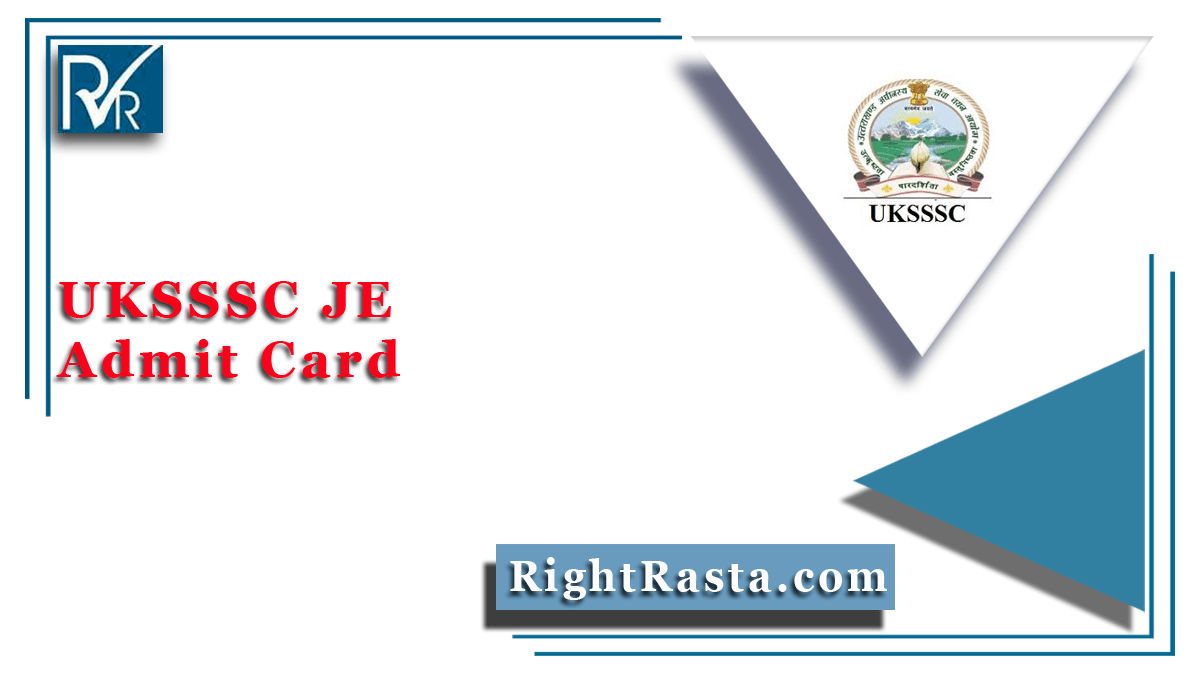 UKSSSC JE Admit Card