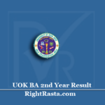 UOK BA 2nd Year Result 2020 (Out) | Download University of Kota B.A Part 2 Results