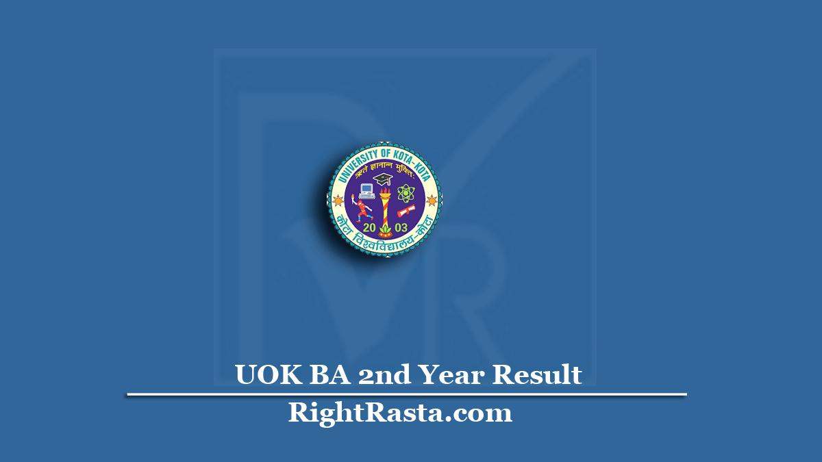 UOK BA 2nd Year Result