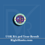 UOK BA 3rd Year Result 2020 (Out) | Download University of Kota B.A Final Results