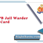UPPBPB Jail Warder Admit Card 2020 (Out) | UP Police Fireman, Horse Rider Hall Ticket