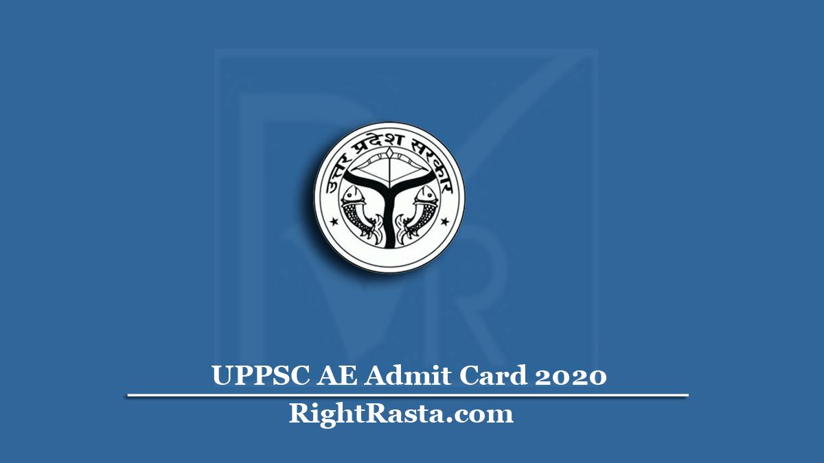 UPPSC AE Admit Card