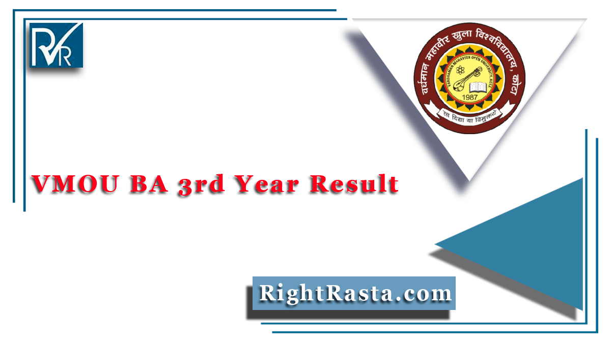 VMOU BA 3rd Year Result