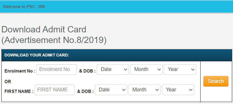 WBPSC ICDS Admit Card 2020