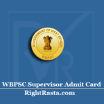 WBPSC Supervisor Admit Card 2020 (Out) | Download PSC ICDS Mains Hall Ticket