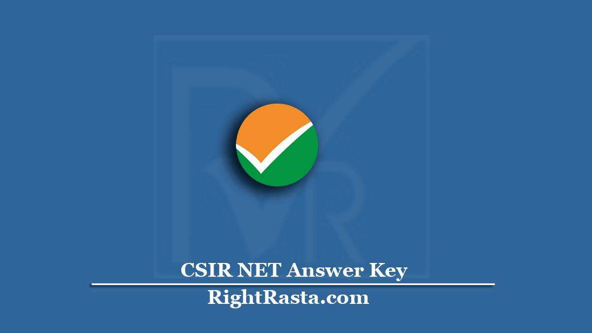 www.csirnet.nta.nic.in Answer Key