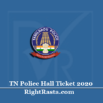 www.tnusrbonline.org Hall Ticket 2020 (Out) | Download TN Police Admit Card