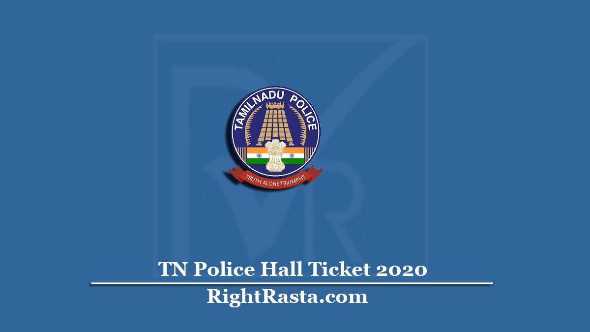 www.tnusrbonline.org Hall Ticket