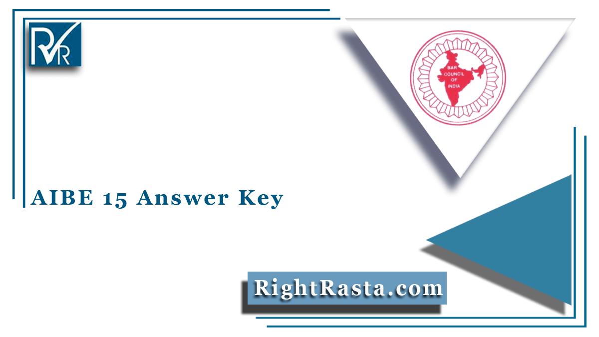 AIBE 15 Answer Key