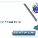 BARC UDC Admit Card 2021 (Out) | Download BARC Upper Division Clerk Hall Ticket