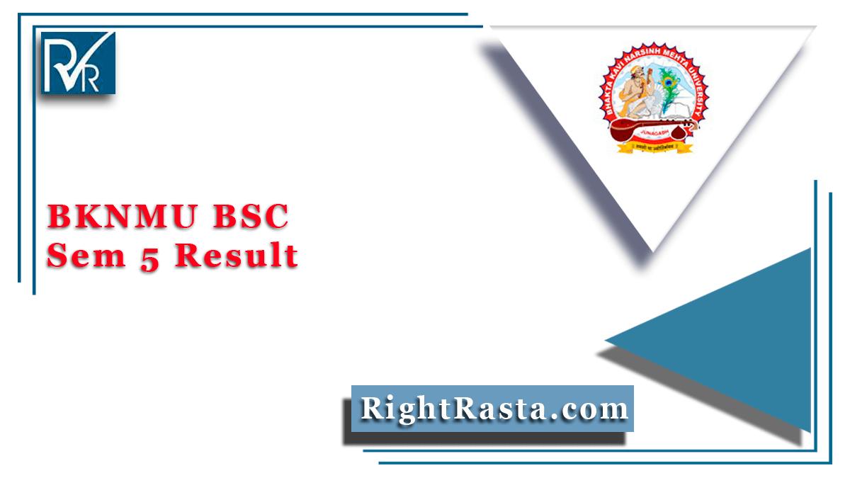 BKNMU BSC Sem 5 Result