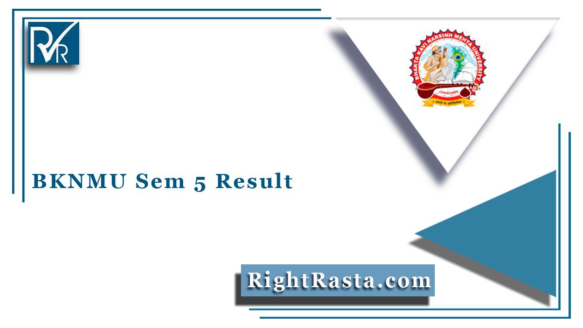 BKNMU Sem 5 Result