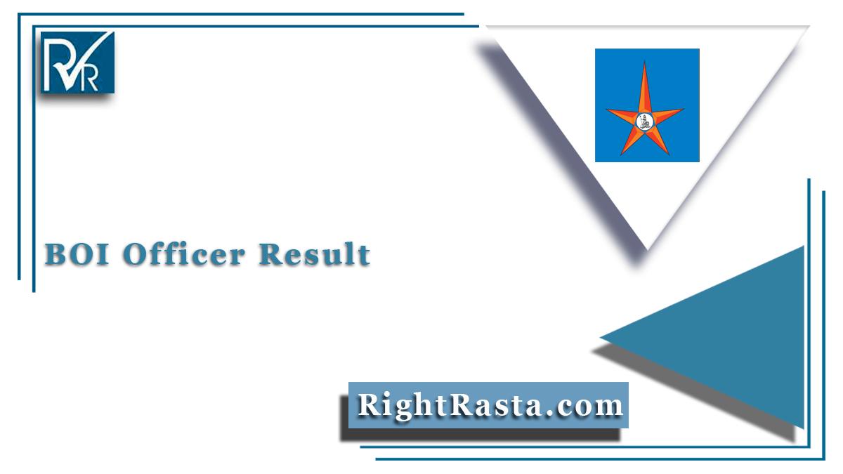 BOI Officer Result