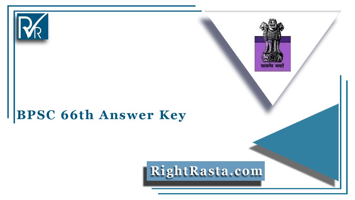 BPSC 66th Answer Key