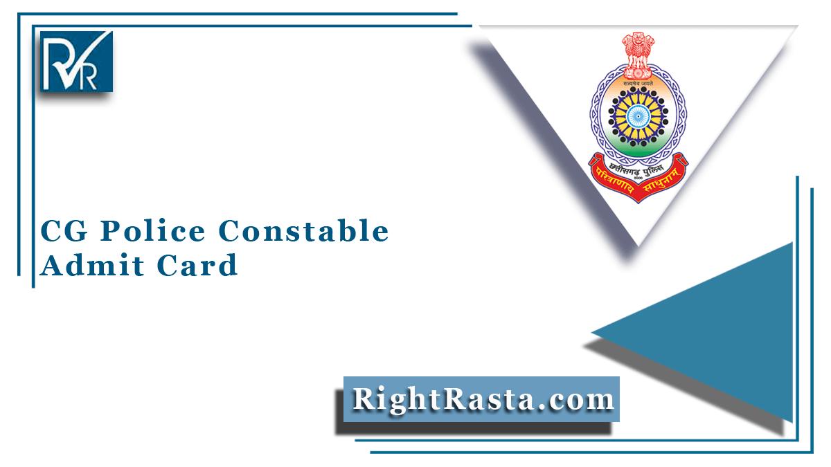 CG Police Constable Admit Card