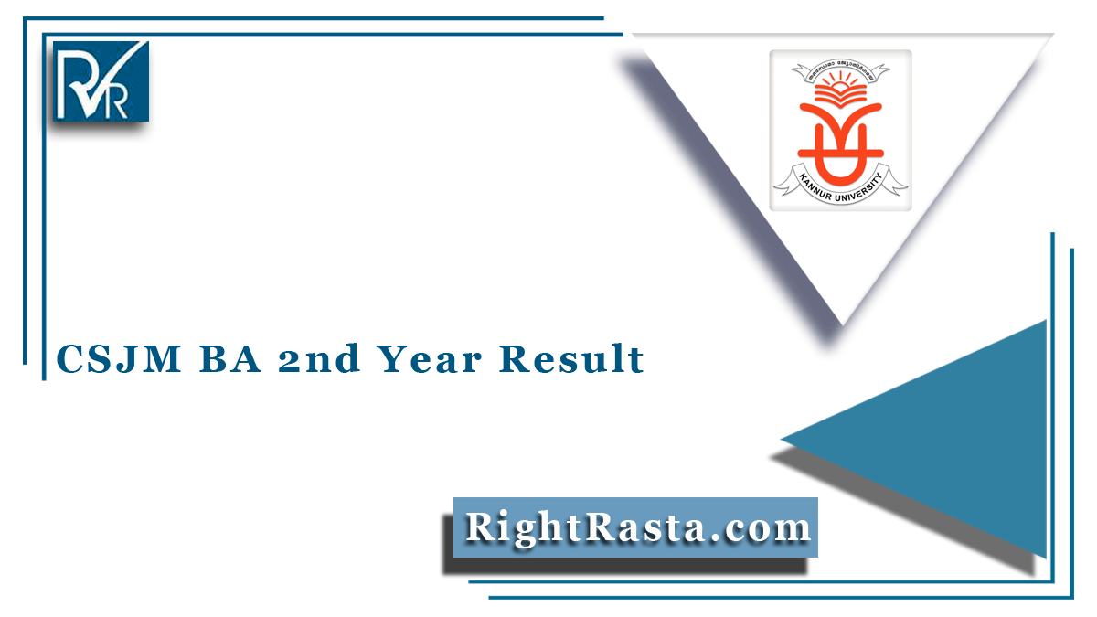 CSJM BA 2nd Year Result