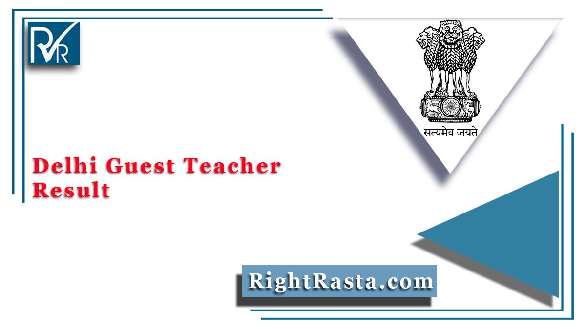 Delhi Guest Teacher Result