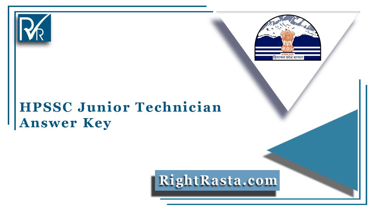 HPSSC Junior Technician Answer Key