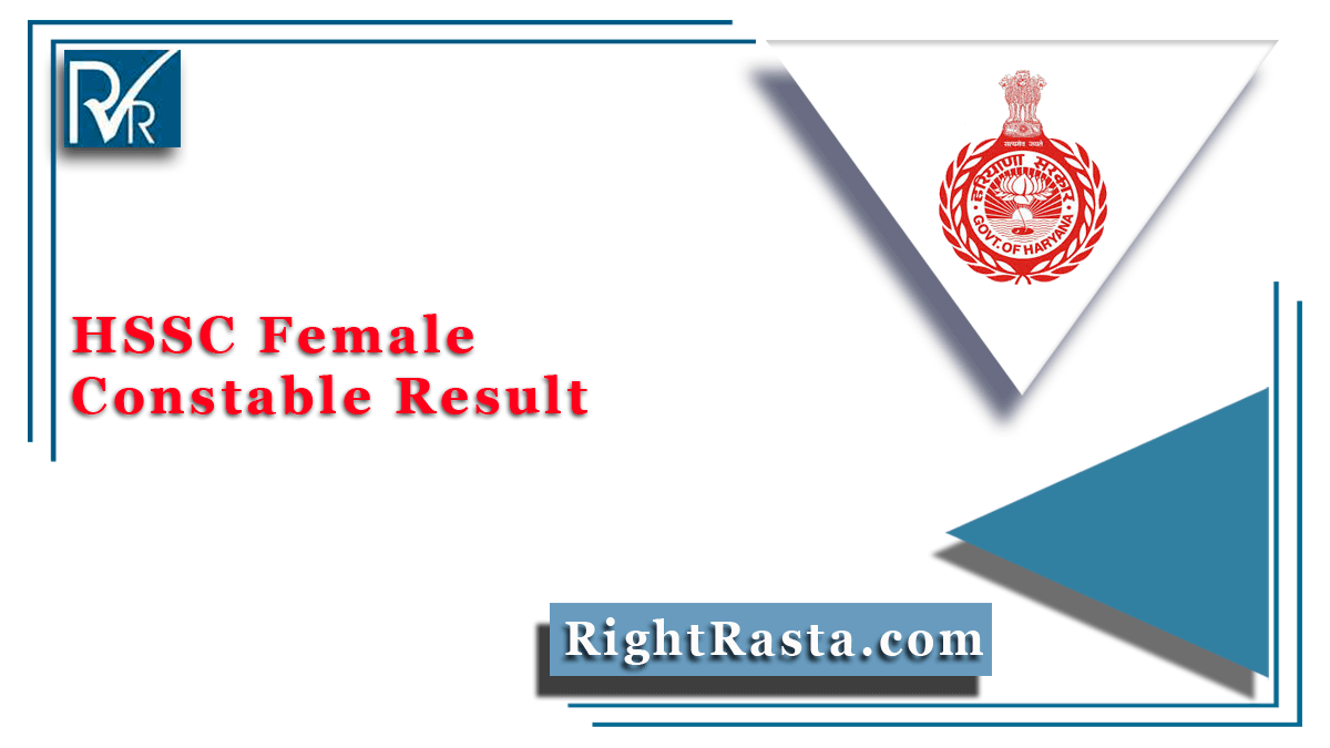 HSSC Female Constable Result