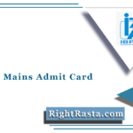 IBPS PO Mains Admit Card 2021 (Out) | Download CRP MT X Hall Ticket