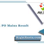 JK Bank PO Mains Result 2021 (Out) | Download Probationary Officer Merit