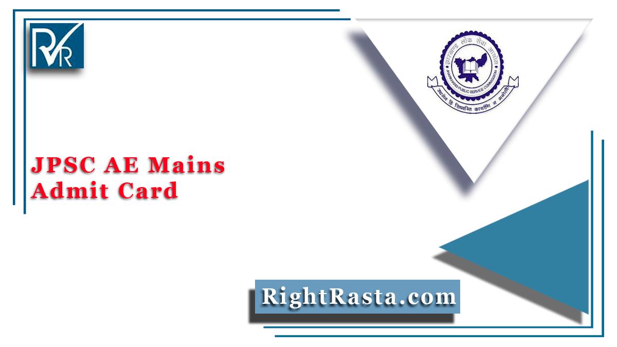 JPSC AE Mains Admit Card