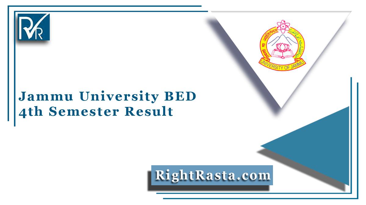 Jammu University BED 4th Semester Result