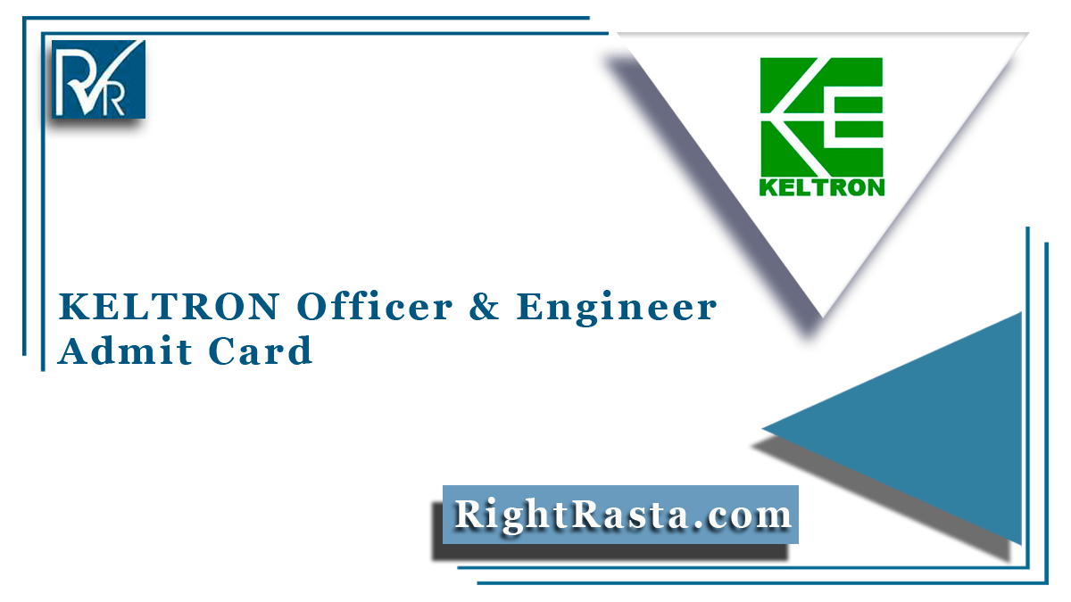 KELTRON Officer & Engineer Admit Card