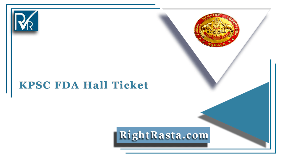 KPSC FDA Hall Ticket