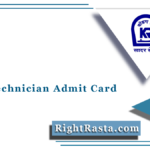 KRCL Technician Admit Card 2021 (Out) | Download Konkan Railway Hall Ticket