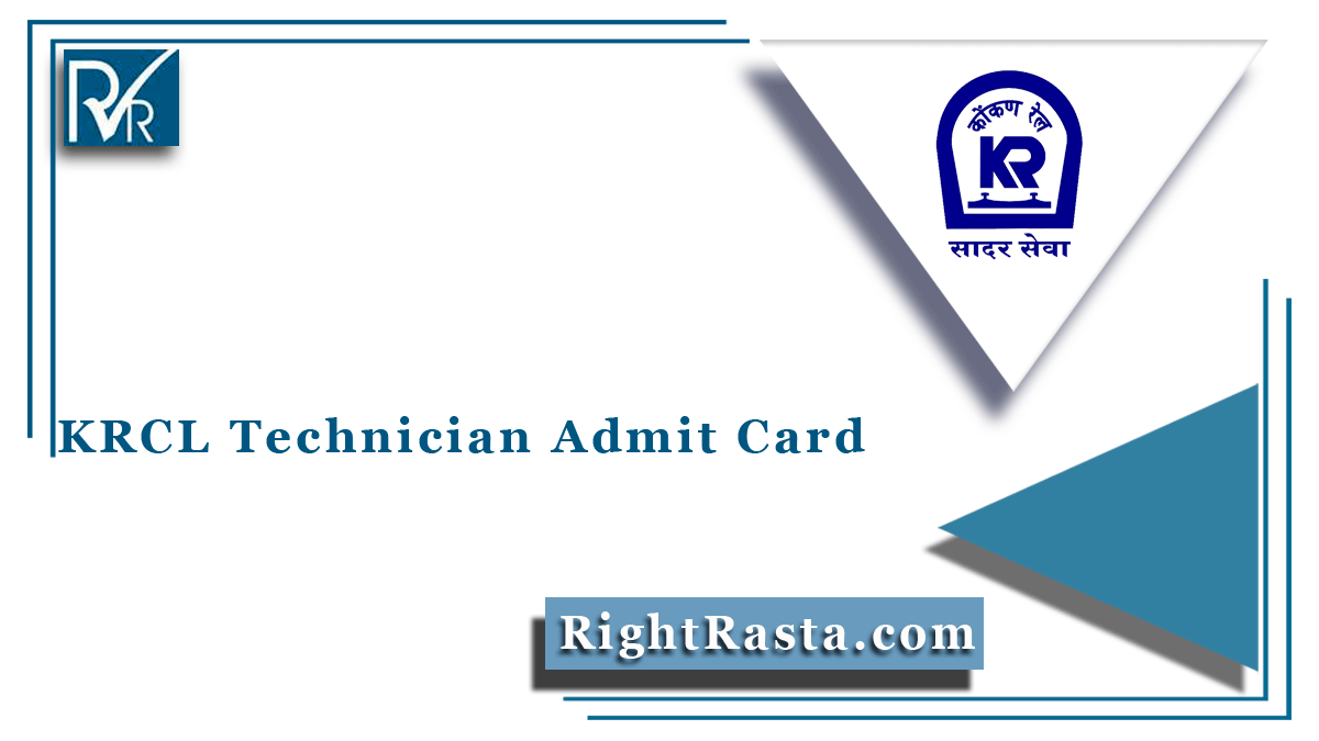 KRCL Technician Admit Card
