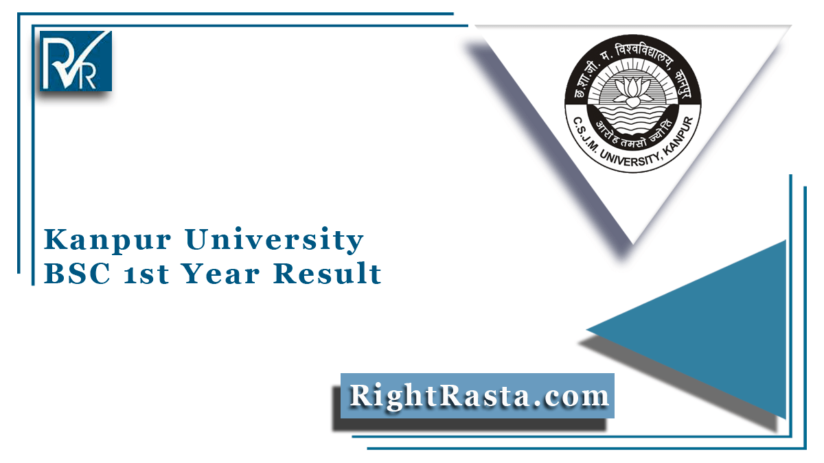 Kanpur University BSC 1st Year Result