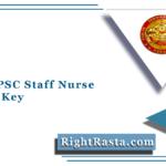 Kerala PSC Staff Nurse Answer Key 2021 (Out) | Download ANM Pharmacist Final Key