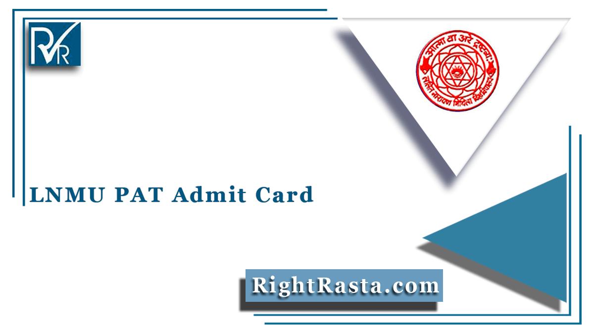 LNMU PAT Admit Card