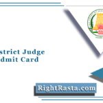 MHC District Judge Mains Admit Card 2021 (Out) | Madras High Court Hall Ticket