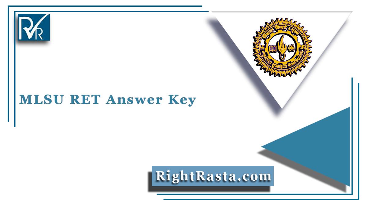 MLSU RET Answer Key